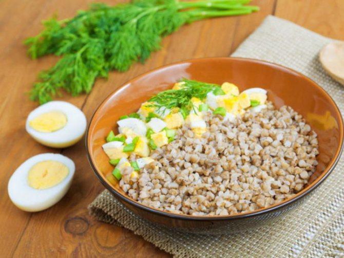 Гречневая диета с яйцами